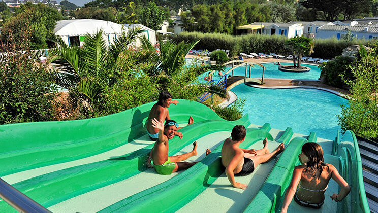 Water slides at Domaine de Ker Ys