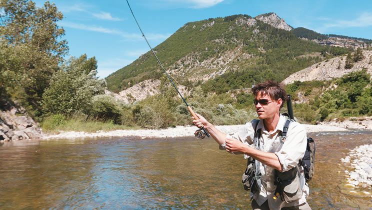Fishing at domaine du verdon