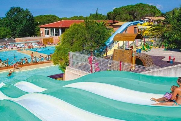water slides at camping frejus